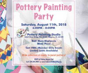 Pottery Painting Party @ Cone 06 Pottery Painting Studio