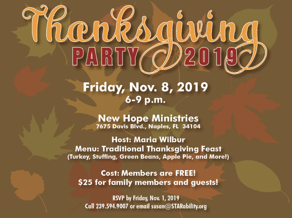 Thanksgiving Party @ New Hope Ministries
