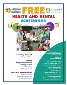 FREE Health and Dental Screenings @ Naples Therapeutic Riding Center