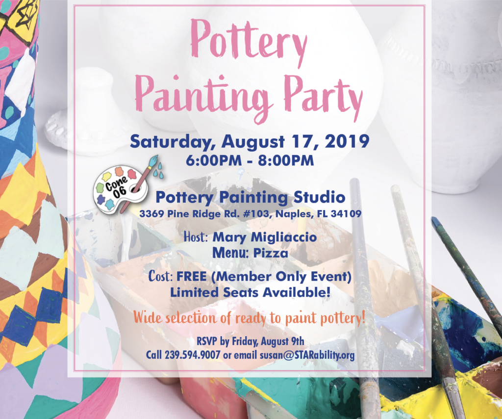Pottery Painting Party 2019 @ Cone 06 Pottery Painting Studio
